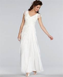 Adrianna papell dress cap sleeve pleated empire waist for Adrianna papell wedding dresses