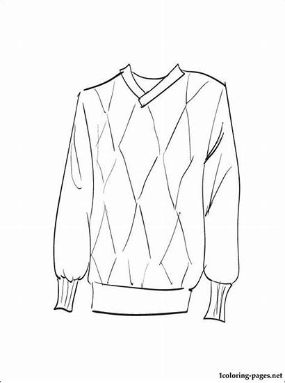 Sweater Coloring Pages Printable Clothes Ugly Sheet