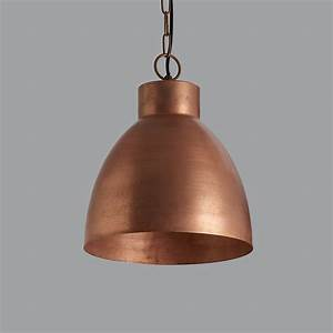 Vintage copper pendant light