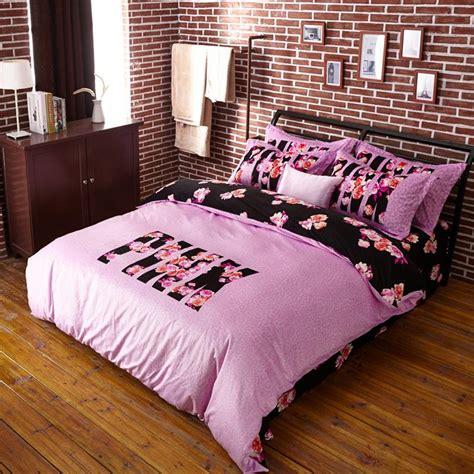 pink secret bed set loving in pink leopard and floral printed quilt cover set