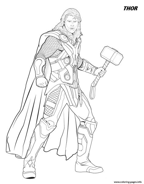 thor   avengers coloring pages printable
