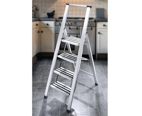 Slimline Stepladder Ladder Folding Foldable 4 Steps Anti