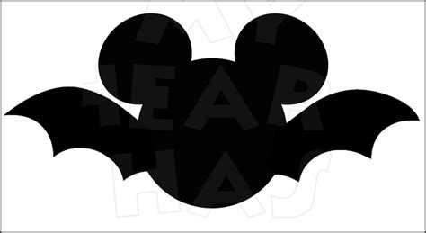 Mickey Mouse Bat Instant Download Halloween Digital Clip
