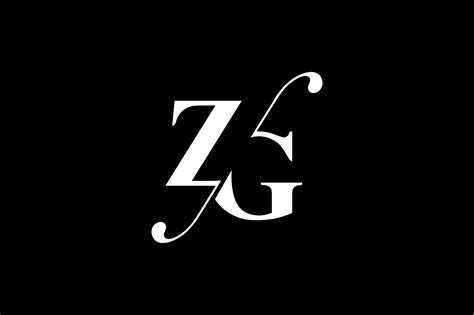 zg monogram logo design  vectorseller thehungryjpegcom