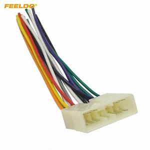 Feeldo 10pcs Car Stereo Audio Wiring Harness Adapter Plug