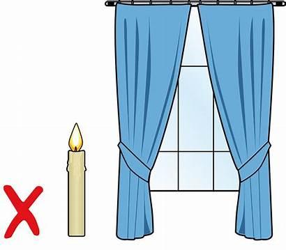 Candles Near Curtains