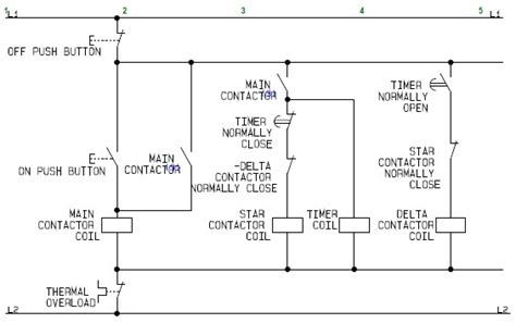 Control Circuit Star Delta Wye Electric