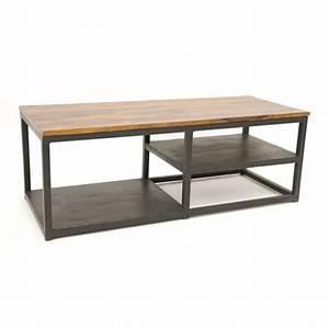 Meuble Tv Metal : meuble tv bois m tal industriel sasque 4871 ~ Teatrodelosmanantiales.com Idées de Décoration