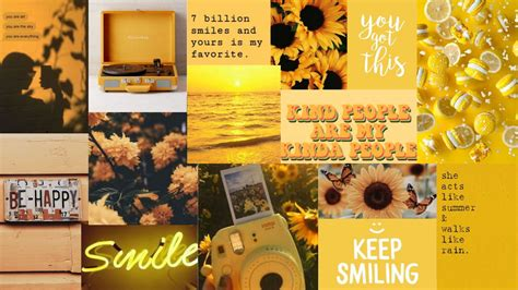yellow aesthetic collage in 2020 aesthetic collage