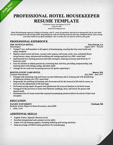 Professional housekeeper maid resume template free for Housekeeping resume template free