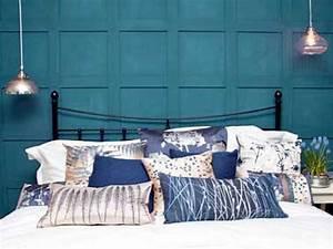 Déco Chambre Bleu Canard : peinture chambre bleu canard pour faire la tete de lit ~ Melissatoandfro.com Idées de Décoration