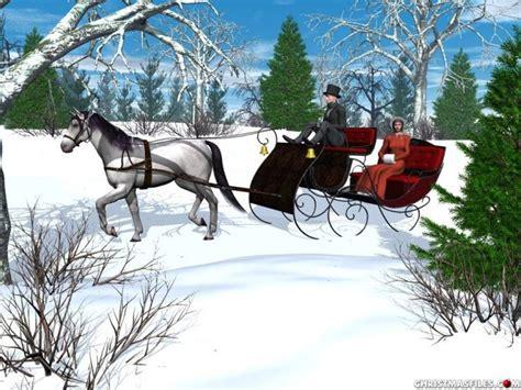 horse open sleigh horse horse drawn sleigh clip