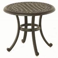 fine patio side table Bella By Hanamint Luxury Cast Aluminum Patio Furniture 21 ...