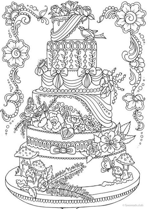 cake printable adult coloring page  favoreads coloring
