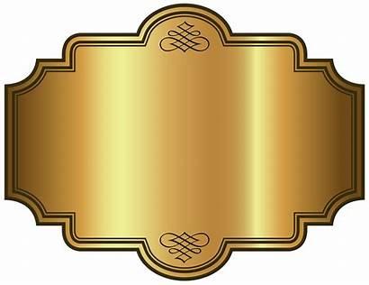 Label Plaque Template Clipart Luxury Golden Labels
