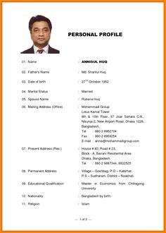 Marriage Resume Creator by Marriage Biodata Format In Word File Free