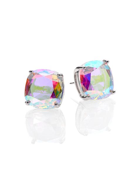 kate spade  york iridescent faceted square stud