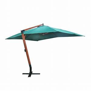 Parasol Inclinable Rectangulaire : parasol rectangulaire d port et inclinable vert 3 x 4 m ~ Teatrodelosmanantiales.com Idées de Décoration