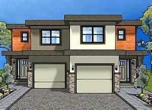 Modern Duplex House Plans with Garage