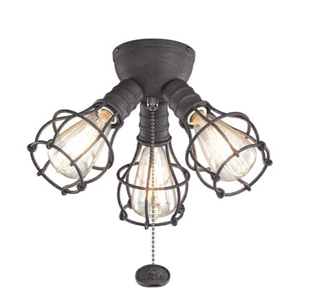 ceiling fan with pendant light kichler 370041dbk vintage distressed black ceiling fan