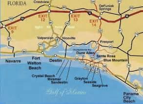 Destin Florida Beaches Map