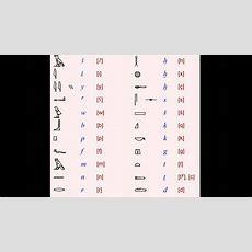 Learning Hieroglyphs 2 Alphabetical Order Youtube