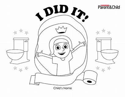 Potty Training Certificate Parents Boys Scholastic Did