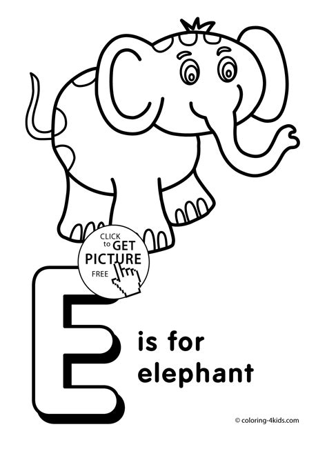 Coloring Letter E by Letter E Coloring Pages Of Alphabet E Letter Words For