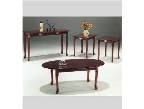queen anne sofa table 4 pc queen anne cocktail table with sofa table in cherry