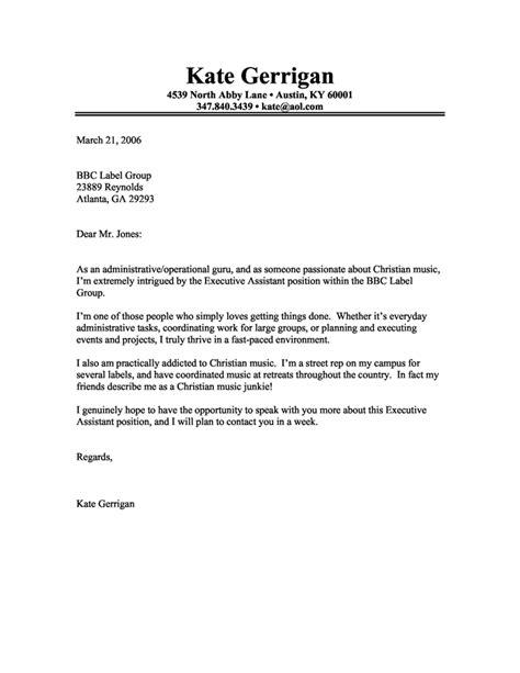 sample  cover letter  fresh graduate  business