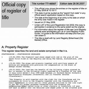 land registry title registers and title plans for england With documents required property registration