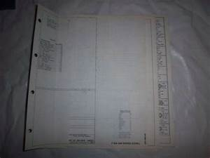 1985 Ford F600 F700 F800 Cowl Foldout Wiring Diagram Electrical Schematic Oem