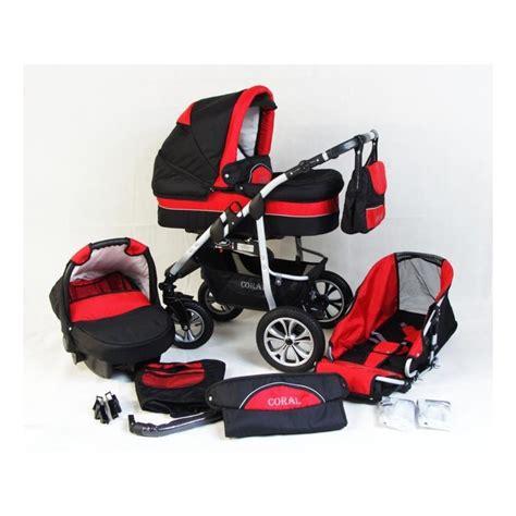 prix siege auto poussette trio coral et noir poussette bébé 3 en 1