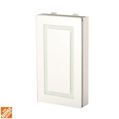 Glacier Bay Medicine Cabinet Mirror by Glacier Bay 15 In X 26 In Surface Mount Led Mirror