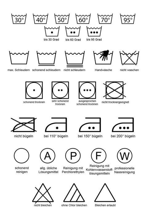 Waeschezeichen Und Ihre Bedeutung by Waschsymbole Pdf Zum Runterladen Und Ausdrucken