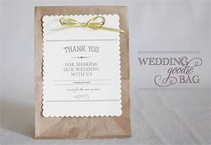 diy wedding favor bags thoughtfully simple With wedding goodie bag ideas
