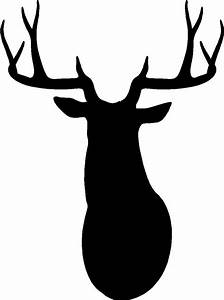Deer Head Silhouette Clipart - ClipartXtras