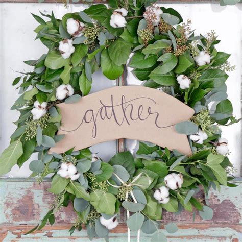 diy eucalyptus garland farmhouse inspired holiday wreath