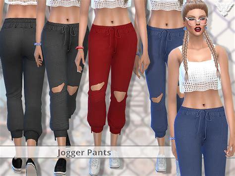 Pzc Realistic Jogger Pants By Pinkzombiecupcakes At Tsr