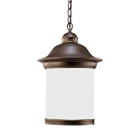 home depot hanging ls sea gull lighting globe 1 light white hanging pendant 6024