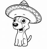 Coloring Chihuahua Dog Pages Sitting Cartoon Mexican Puppy Drawings Hat Sombrero Drawing Wearing Easy Netart Getdrawings Down Clipartmag sketch template