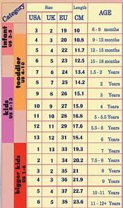 Children 39 S Shoe Size Chart Not An Absolute But General