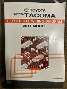 2011 Toyota Tacoma Pickup Truck Shop Service Electrical
