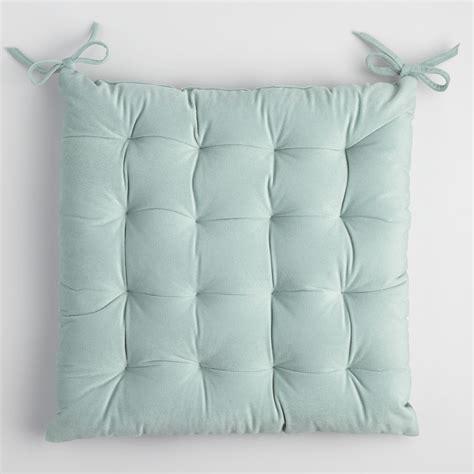 world market chair cushion blue velvet chair cushion world market