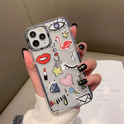 Stickers Iphone Case Cartoon Label Cases Finishify