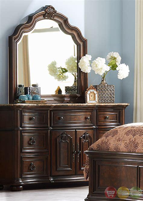 le grande european style burl wood platform bedroom set