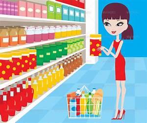Grocery Store Building Cartoon