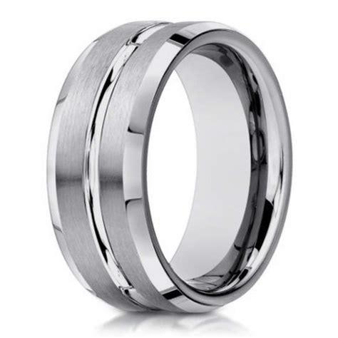 6mm designer satin finish 14k white gold wedding band for men justmensrings com