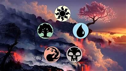 Magic Gathering Cherry Blossom Lava Card Elements