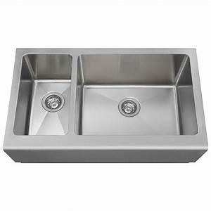 polaris sinks farmhouse apron front stainless steel 33 in With apron sink sizes